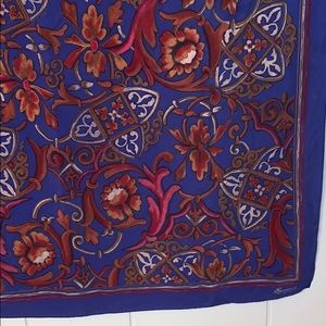 Vintage Accessories - Vtg  Signature Echo blue & red large silk scarf 🧣